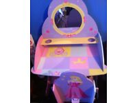 princess desk and chair plus canvases