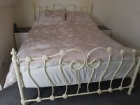 King size bed frame with mattresses