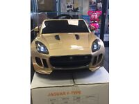 Jaquar F-Type Available In Gold, Orange, Met Black Parental Remote & Self Drive 12v