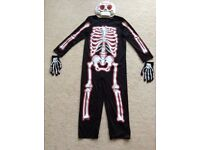 Childrens Skeleton Dressing Up Outfit (Age 7-8)