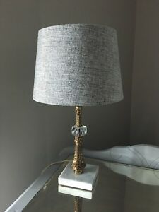Vintage Lamp with Marble Base