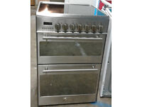 C122 Stainless Steel Kenwood 60cm Double Oven Ceramic Hob Electric Cooker, Comes With Warranty