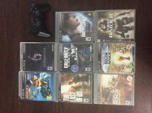 Playstation 3 Slim ( 12 GB ) + 9 Games For Sale