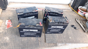 4 12v 20ah almost new batteries