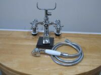 Victorian Style Bath Mixer Tap with Shower Attachment