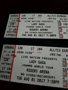 Lady Gaga -Joanne world tour tickets - Vancouver Aug 1st