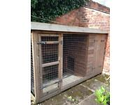 Dog kennel with covered run