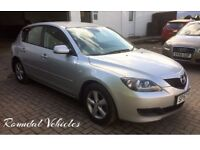 LOW MILES 2007 Mazda 3 1.6 TS five door hatch, met silver LOTS of history, both keys 12 months mot !