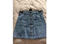 H&M Light Blue Denim Size 8 Skirt