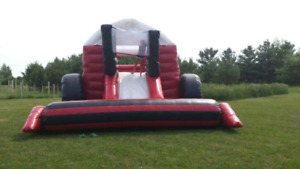 Life-size inflatable combine bouncer