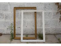 Two lovely shabby chic wooden picture frames - vintage