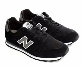 NEW BALANCE 373 BLACK WHITE TRAINERS IN NEW CONDITION