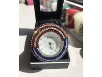 Geneva American themed watch with Swarovski crystals
