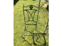 6 Cast Iron Garden Chairs