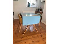 Lamina folding dining table & chairs designed by Frank Guille for Kandya 1955