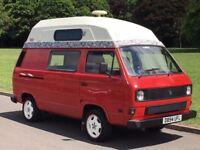 1986 Volkswagen Transporter T25 T3 Camper Campervan 1.6D DIESEL - 4 BERTH - LONG MOT - READY TO GO