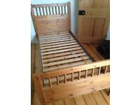 2 matching single wooden bed frames