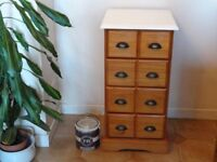 SOLID PINE --CHEST OF DRAWERS --TOP PAINTED WITH FARROW AND BALL PAINT --