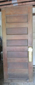 ANTIQUE OAK BUTLER / SWING DOOR WITH PLATE SOLID WOOD