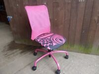 Mid Size Pink Office Chair Delivery Available