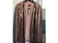 Brand new with tags sequin Jacket size 12