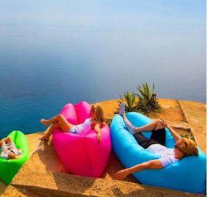 Air sofa lounger hangout bag bed super quick inflate