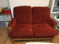 2 seater sofa with 2 armchairs
