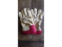 Two pairs of Gardening Gloves. New. Leather. Ladies and Gents. Price per pair
