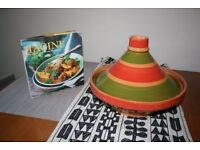 Lakeland Moroccan Tagine and recipe book - As New