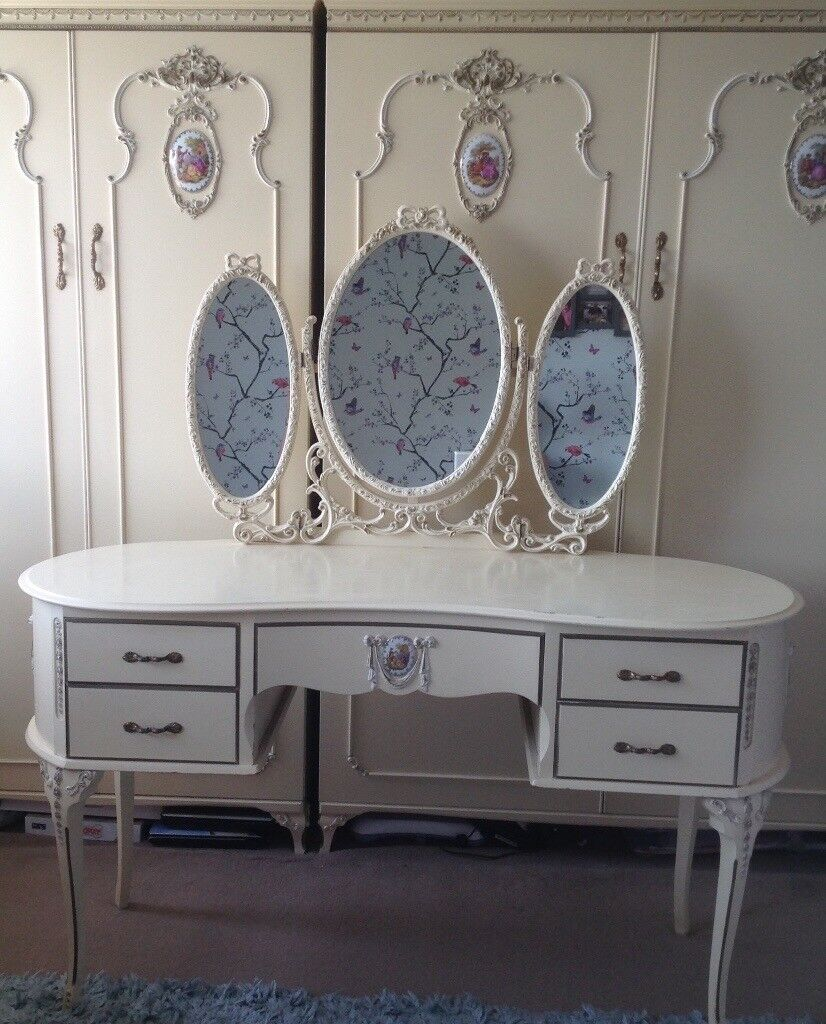 French Louis style cream vintage complete bedroom furniture setFrench Louis style cream vintage complete bedroom furniture set  . Louis Style Bedroom Furniture. Home Design Ideas