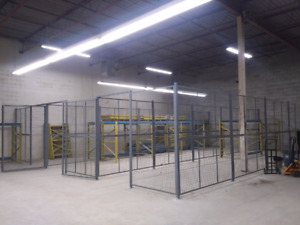 Metal cage units + industrial shelves