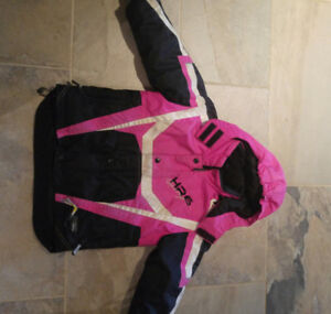 Pink Choko snowmobile suit