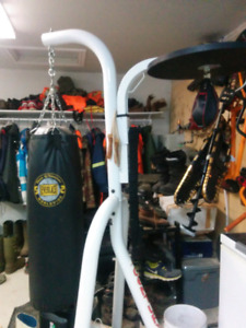 Boxing bag and speed bag with stand