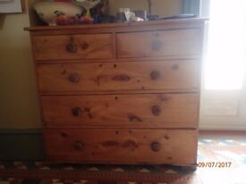 antique pine sideboard 97mm(w)x46(d)x85(h).