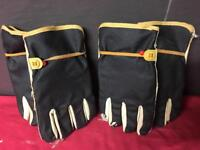 2X pairs of impact leather safety gloves