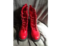 Red rocket dog boots size 5