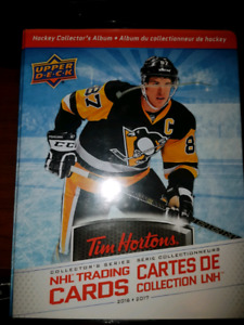 Hockey cards tim hortons with jersey relic