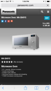 Practically new 32L stainless Panasonic microwave for sale