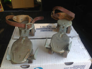 2 SETS OF VINTAGE DOMINION STEEL ROLLER SKATES 1950s
