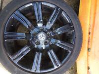 """4 Alloy Wheels, Black 19"""" 5/120"""