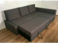 Beautiful Grey Corner Sofa bed. Only £300. *Free Delivery and Free Assembly*