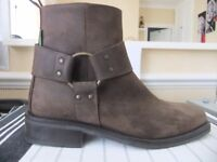 Men's Russell & Bromley Suede Brown Boots