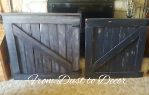 Barn door baby gates available.