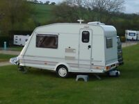 ELDDIS WHIRWIND 1997 2 BERTH LIGHT WEIGHT CARAVAN