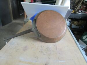1893 SOLID COPPER FRYING PAN MADE BY GEORGE SPARROW AND CO,