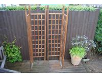 Hinged wooden trellis panels Garden decoration Wedding