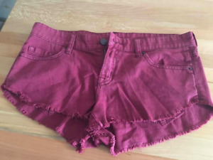 short bordeaux urban outfitters neuf