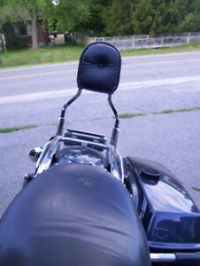 Backrest with Pad, Harley Road King, touring FLH series