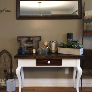 Rustic Farmhouse Style Entryway Table or Desk.