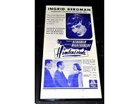 FILM POSTER HIMLENS V'IEDE WITH INGRID BERGMAN /ROBERT MONTGOMERY FRAMED